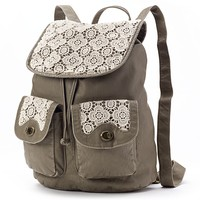 Mudd Barbara Floral Crochet Backpack