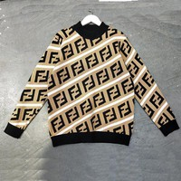 FENDI Woman Men Fashion Top Sweater Pullover