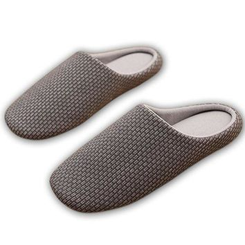 HaloVa Slippers Closed Toe Skidproof Soft Soled Shoes Indoor House Unisex Slippers for Women Men