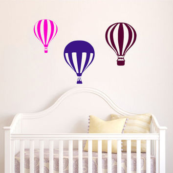 Housewares Hot air Balloons Wall Vinyl Decal Sticker Kids Nursery Baby Room Decor V288