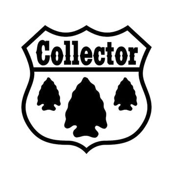 14X14CM ARROWHEAD COLLECTOR Originality Vinyl Decal Black/Silver Car Sticker Car-styling  S8-0874