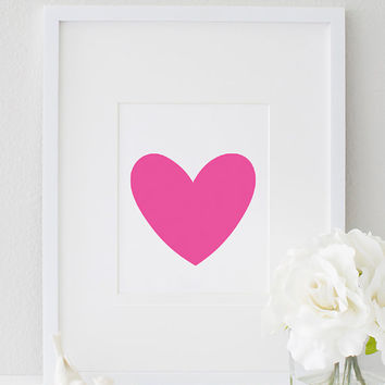 Inspirational Printable Heart Motivational Love Print Girl Bedroom Decor Home Decor