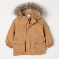 Padded Parka - Mustard yellow - Kids | H&M US