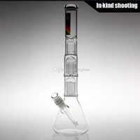 "18"" Inch Beaker Water Pipe With Two Tree Percs"