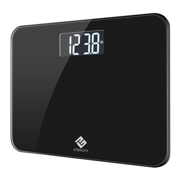 Etekcity Digital Body Weight Bathroom Scale with Extra Large Display 440 Pounds Elegant Black