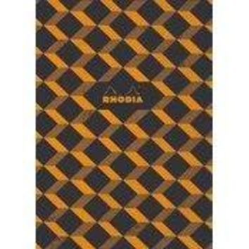 "Rhodia Heritage Collection Escher"" Sewn Spine Notebook 90g Ivory Paper, 32 sheets, Graph 9 3/4 x 7 1/2"" [Rhodia]"