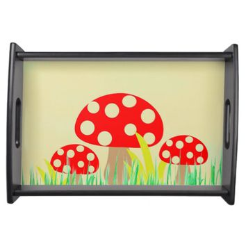 Mushrooms Serving Tray