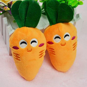 14 Designs Dog Toys Pet Puppy Chew Squeaker Squeaky Plush Sound Fruits Vegetables And Feeding Bottle  Dog Toys CY1
