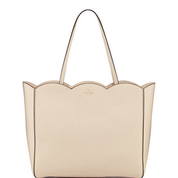 kate spade new york leewood place rainn scalloped tote bag