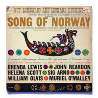 """Seymour Chwast record album design, 1959. """"Song of Norway"""" LP"""