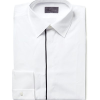 Kilgour - Slim-Fit Contrast-Tipped Cotton Shirt