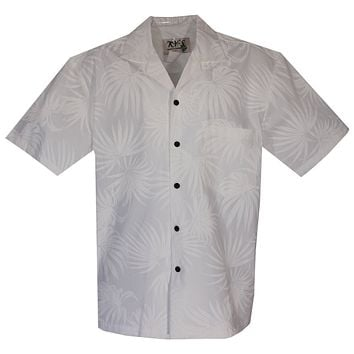 Palm White Wedding Hawaiian Shirt