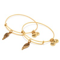 Wings Set Of 2 Charm Bangles