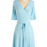 ModCloth Pastel Mid-length Short Sleeves A-line Easygoing Inspiration Dress