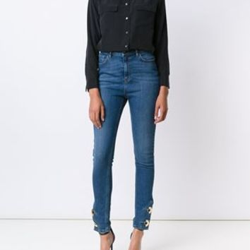 Anthony Vaccarello Skinny Button Ankle Jeans - Just One Eye - Farfetch.com