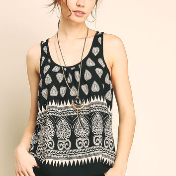 Sleeveless Top W/Necklace