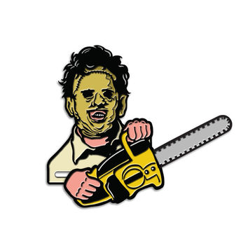 Leatherface Saw Action Enamel Pin