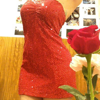 Red Ruby Betty Boop Vegas Night Mini Sparkle Dress