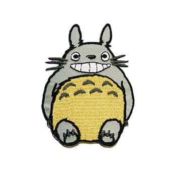 Totoro Iron On Patch Embroidery Sewing DIY Customise Denim Cotton My  Neighbour Totoro 3b7d403808