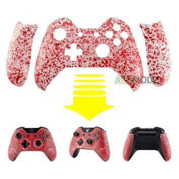 Custom Orange-peel Red Repair Front Shell Handle Panels for Xbox One Controller