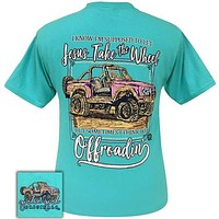 Girlie Girl Originals Preppy Jesus Supposed To Take The Wheel But We Offroadin' Jeep T-Shirt