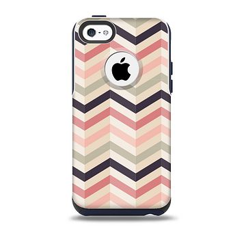 Pink-Tan-Black Zigzag Pattern Skin for the iPhone 5c OtterBox Commuter Case