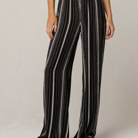 SKY AND SPARROW Tribal Stripe Womens Wide Leg Pants