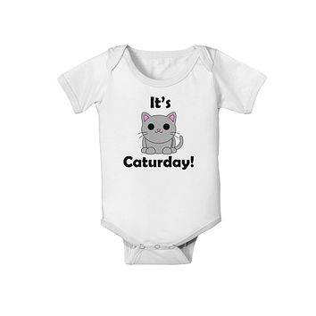 It's Caturday Cute Cat Design Baby Romper Bodysuit by TooLoud