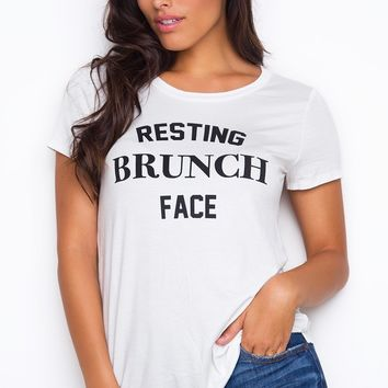 Resting Brunch Face Top