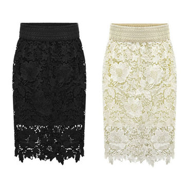 Slim Lace Fashion Stylish Summer Skirt = 5861786497