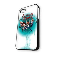 Adventure Time Assassin's Creed 3 American Style Game iPhone 4/4S Case