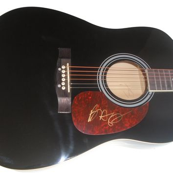 Brett Young Autographed Full Size Country Music Acoustic Guitar, Proof Photo