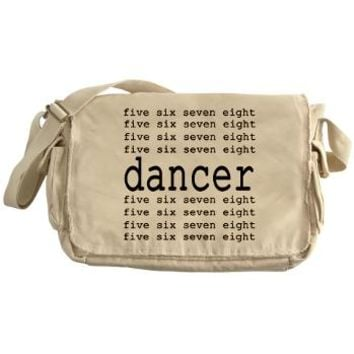 dancer numbers Messenger Bag