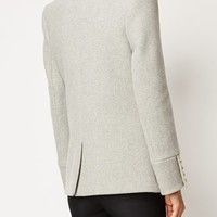 Balmain Off-centre Peaked Cropped Coat - Sn3 - Farfetch.com
