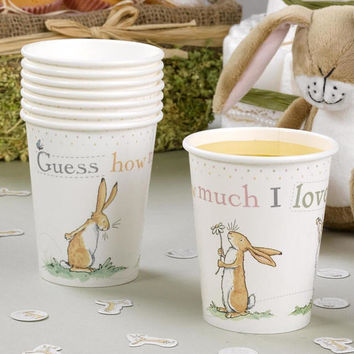 Guess How Much I Love you - Paper cups- Christening-baby shower-1st Birthday