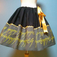 Lord Of The Rings, Hobbit Skirt, Geek Skirt, Cosplay, Full Skirt, Plus Size, All Sizes, Mini Skirt.