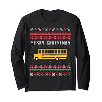 School Bus Ugly Christmas Long Sleeve T-shirt