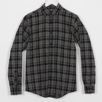 Indcsn Costanza Flannel Shirt, Black / Grey