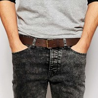ASOS Leather Belt In Brown
