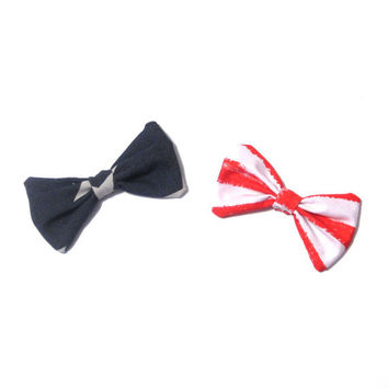 USA Patriotic 4th of July Hair Bow Clip Set