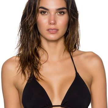 Sunsets Separates Black - Starlette Slide Triangle Bikini Top
