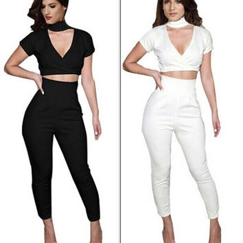 Sexy Women's Fashion Bodysuit Club wear Body con  Jumpsuits Rompers  KM067 = 1946416708