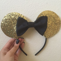 Gold minnie ears on sale!