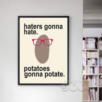 Cartoon Potato Canvas Art Print Painting Poster, Wall Pictures For  Home Decoration, Frame not include FA036