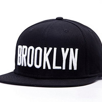 Home Prefer New Mens Brooklyn Embroidery Flat Brim Black Hats Snapback Baseball Caps