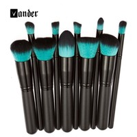 Vander 10Pcs Makeup Brush Sets Tools Cosmetic Brush Foundation Eyeshadow Eyeliner Lip Powder Brush Pinceau Maquillage