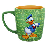 disney parks 3d donald personality loud ceramic coffee mug new