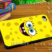 Spongebob Face - For iphone 4 iphone 5 samsung galaxy s4 / s3 / s2 Case Or Cover Phone.