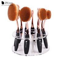 DUcare Oval makeup brushes 10pcs/6pcs oval brush set makeup brushes set toothbrush oval makeup brush holder Kwasten with box