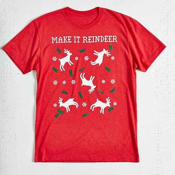 Riot Society Make It Reindeer Tee- Red
